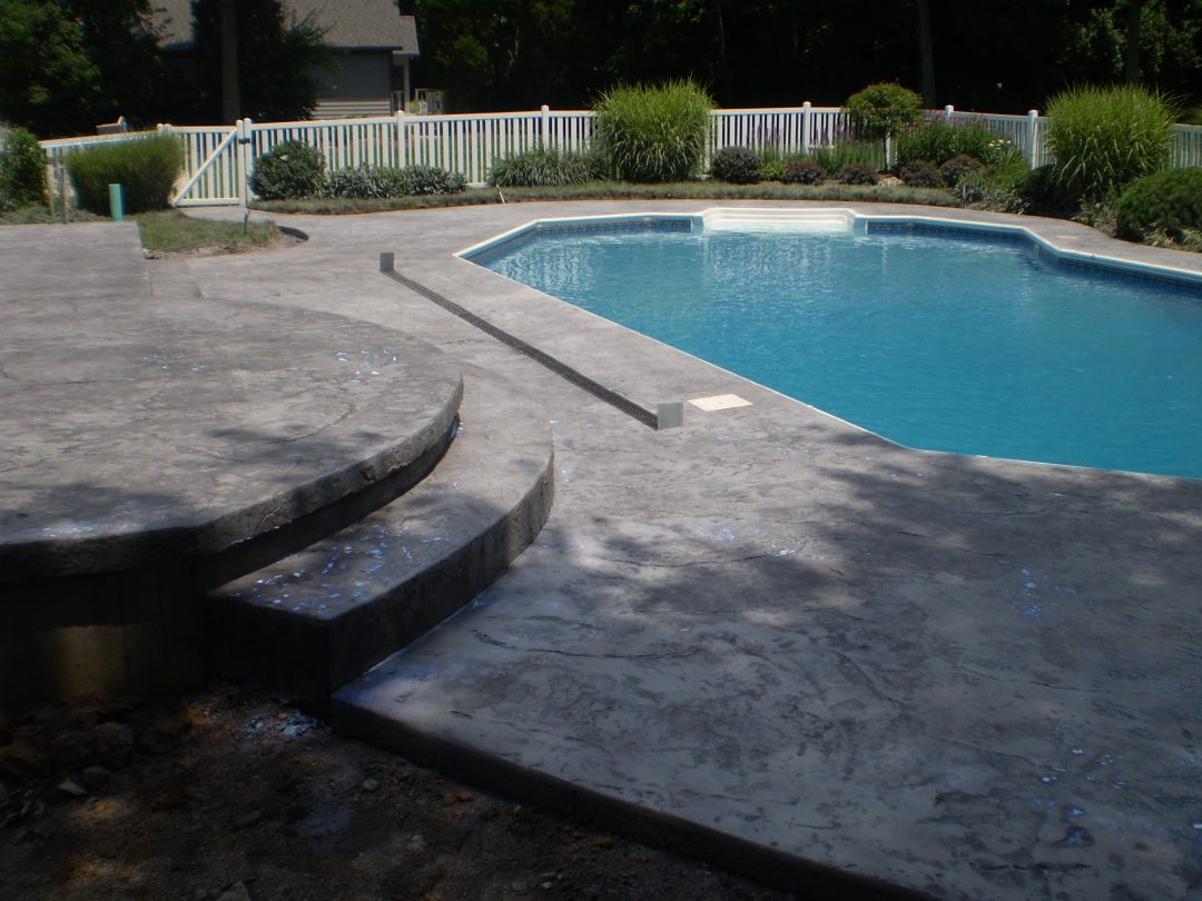 Stamped Concrete Pool Deck-7