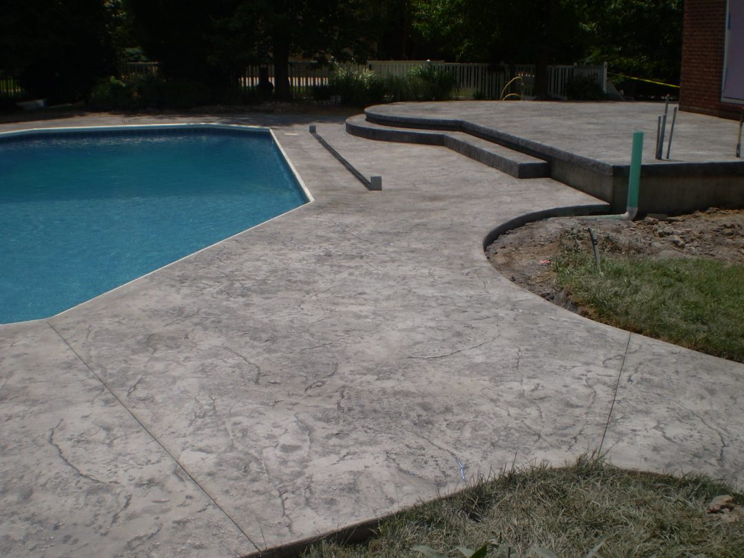 Stamped Concrete Pool Deck-8