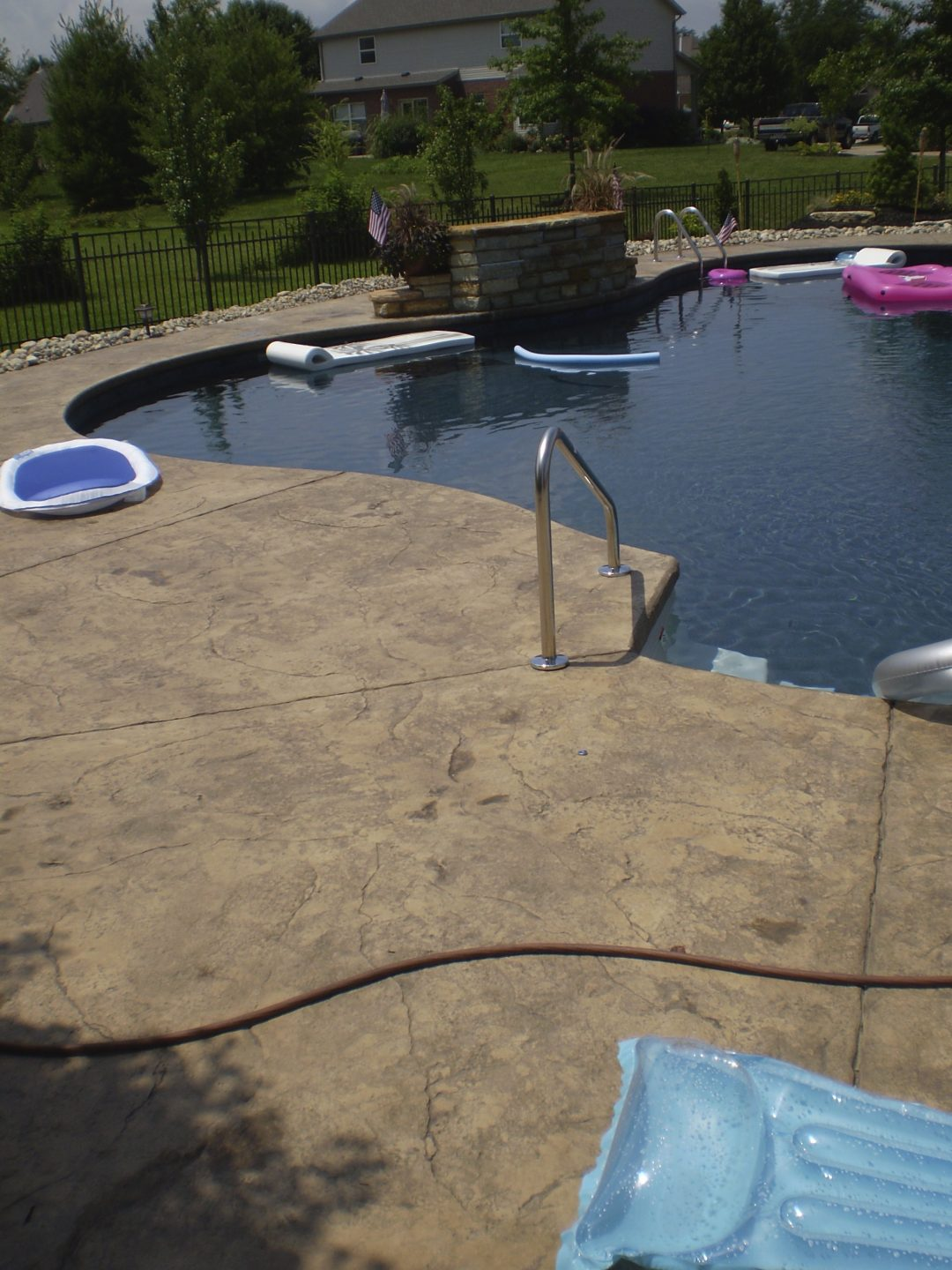 Stamped Concrete Pool Deck-6