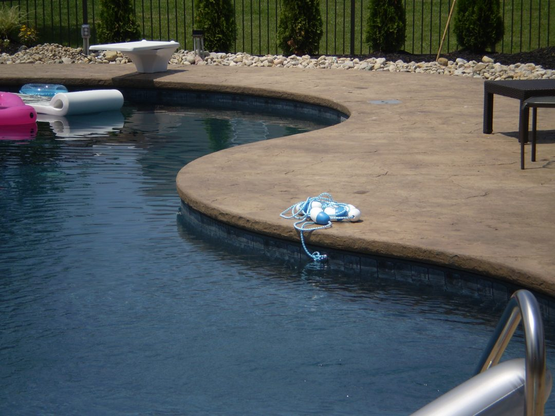 Stamped Concrete Pool Deck-5