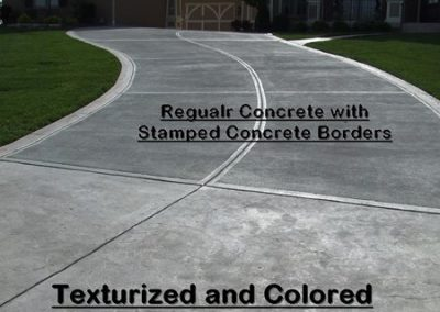Stamped Concrete Driveway Design – 1