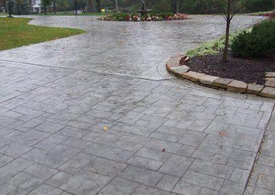 Stamped Concrete Driveway Design – 4
