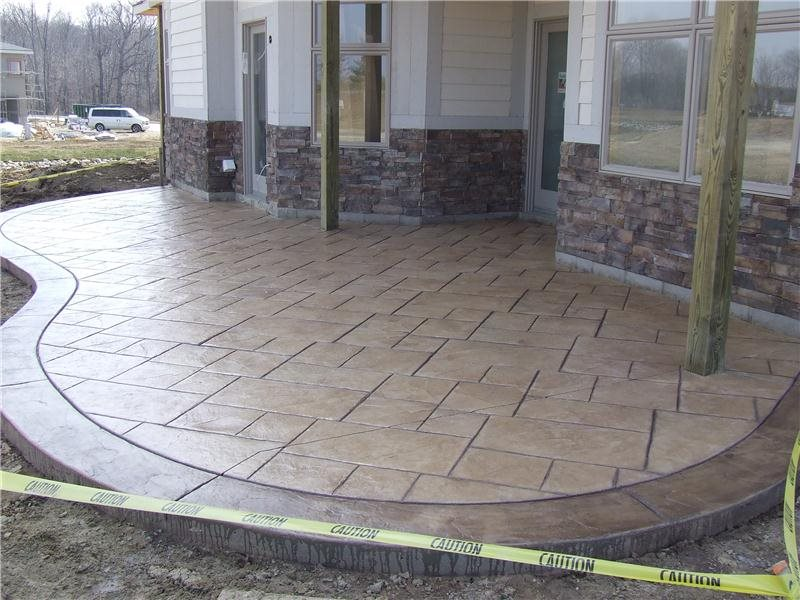 Stamped Concrete Patio -1 - CBD