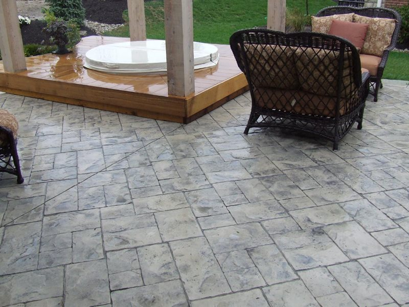 Stamped Concrete Patio -8 - CBD