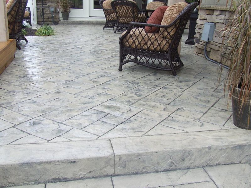 Stamped Concrete Patio -2 - CBD